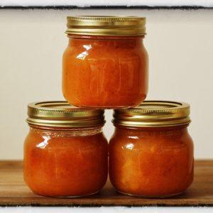Vanilla Bourbon Peach Jam