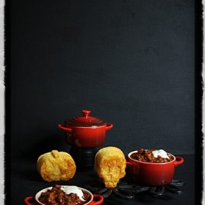 Chilli Con Carne with Halloween Cornbread Muffins