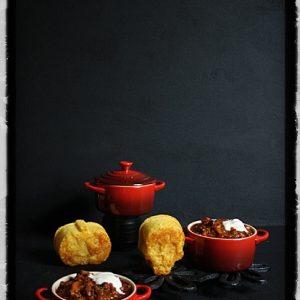 Chilli Con Carne with Halloween Cornbread Muffins