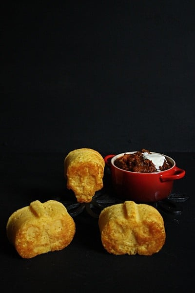 Halloween Chilli and Cornbread muffins