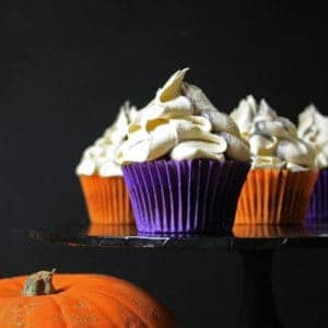Pumpkin Cupcakes with Marshmallow Buttercream