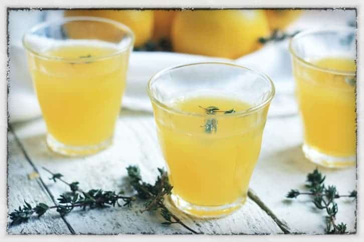 Lemon and thyme jelly
