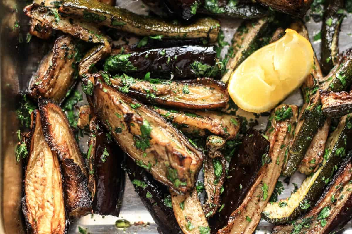 Roasted aubergine and courgette2