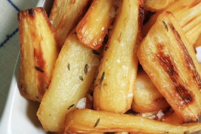 Duck Fat Roasted Parsnips with Thyme  |  Stroud Green Larder