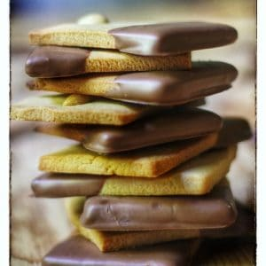 Chocolate Dipped Peanut Butter Biscuits
