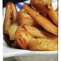 Duck Fat Roasted Parsnips with Thyme