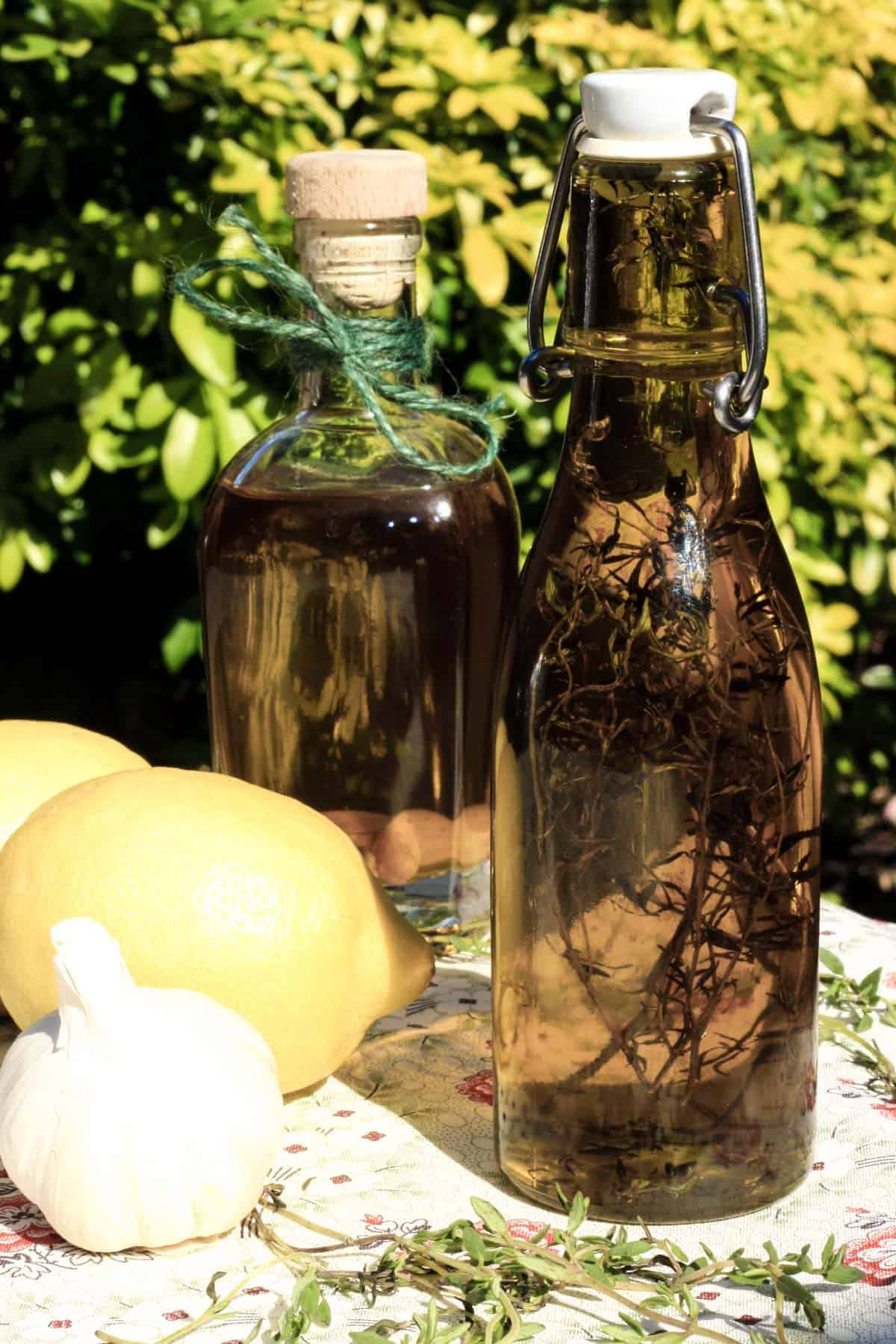 Lemon Garlic and Thyme Olive Oil