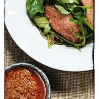 Chargrilled Steak with Sun-dried Tomato and Anchovy