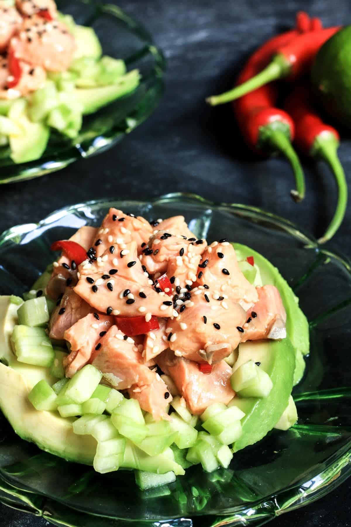 Sesame Salmon Tartare | Stroud Green Larder