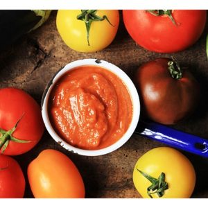 Smoky Aubergine and Heritage Tomato Ketchup