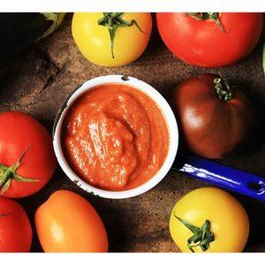 Smoky Aubergine and Heritage Tomato Ketchup