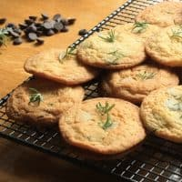 Dark Chocolate Chip, Rosemary and Fleur de Sel Biscuits