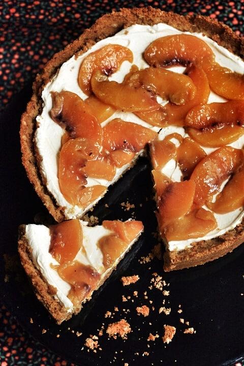 Peach Pretzel Cheesecake  |  Stroud Green Larder