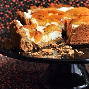 Peach Pretzel Cheesecake