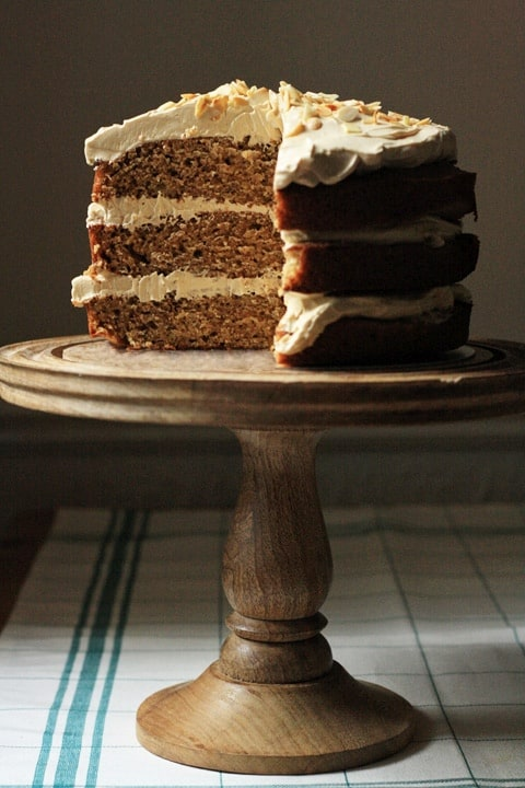 Banana and Almond Cake with Toffee Whipped Buttercream