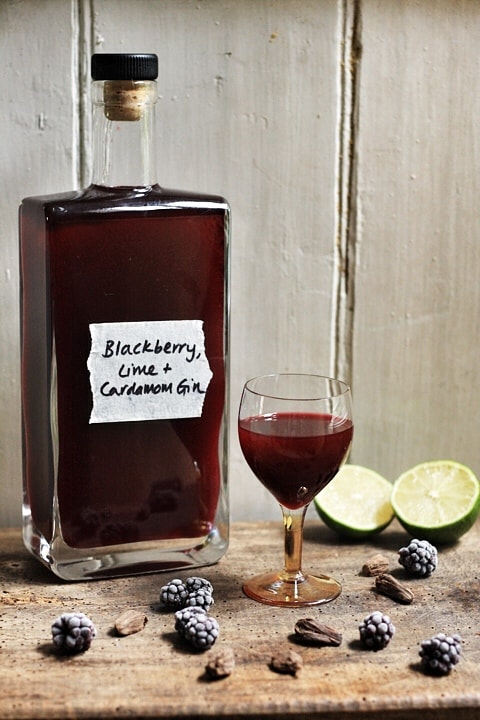 Blackberry Lime and Cardamom Gin  |  Stroud Green Larder