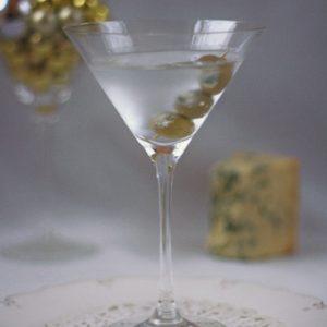 Stilton Stuffed Olive Martini