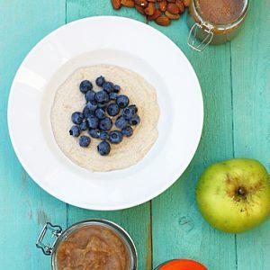 No-Oat Apple and Almond Butter Porridge