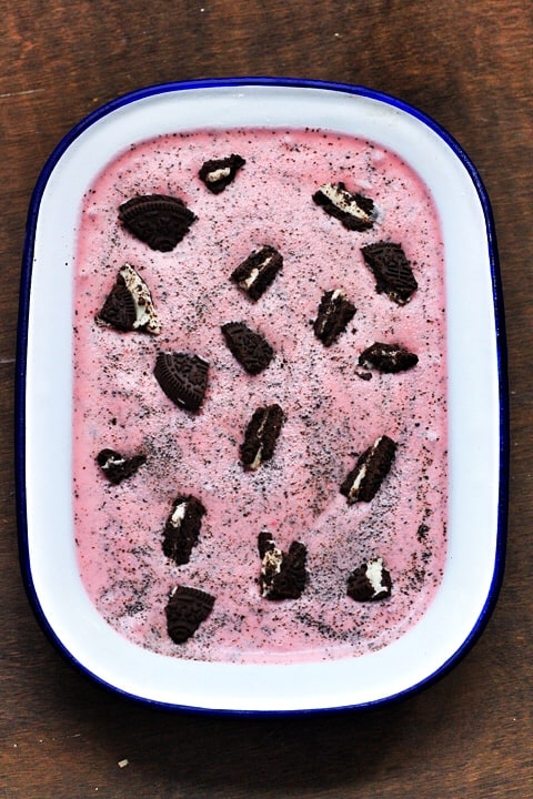 Raspberry Oreo Ice Cream  |  Stroud Green Larder