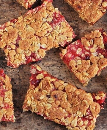 Bramley Apple and Cranberry Oat Bars