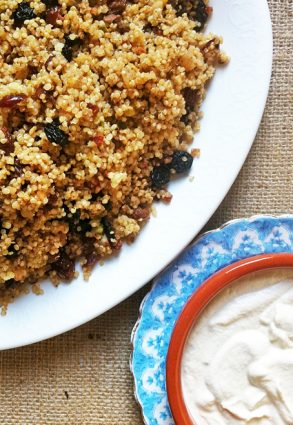 Breakfast Quinoa with Cashew Cream