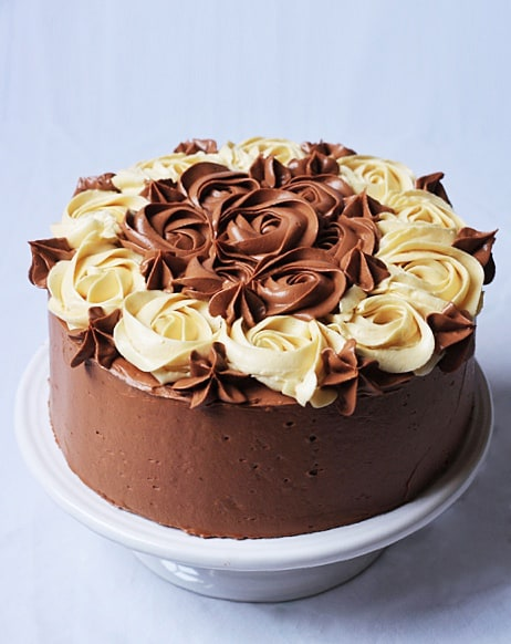 Vanilla Malt Cake with Mocha Buttercream