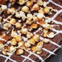 Spiced Pear Butter and Hazelnut Praline Cake (gluten-free)