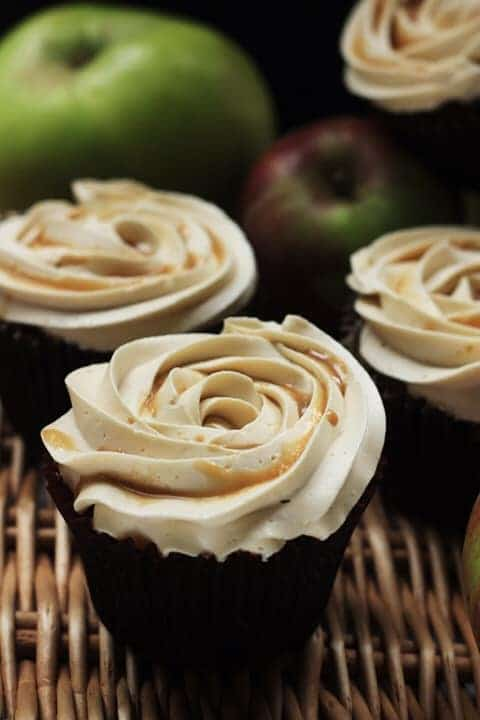 Toffee Apple Cupcakes