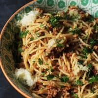 Easy Peasy Pork Bolognaise