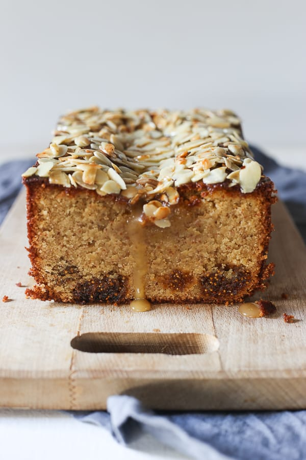 Fig Almond and Salted Honey Cake