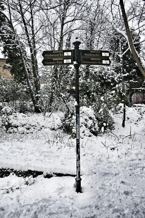 Parkland Walk on Snow Day