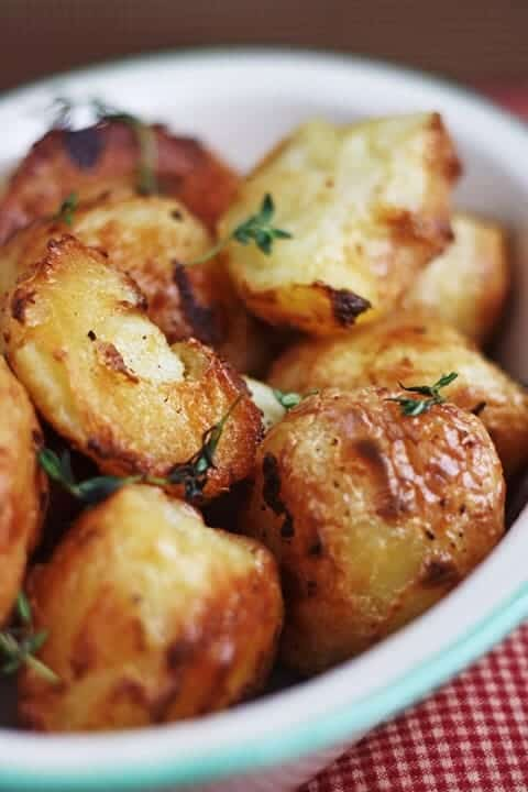 Cream Baked Roast Potatoes