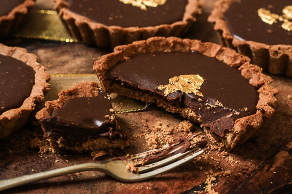 Chocolate and Gingerbread Five Spice Tarts