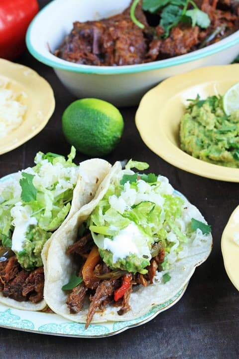 Chipotle Braised Brisket Tacos