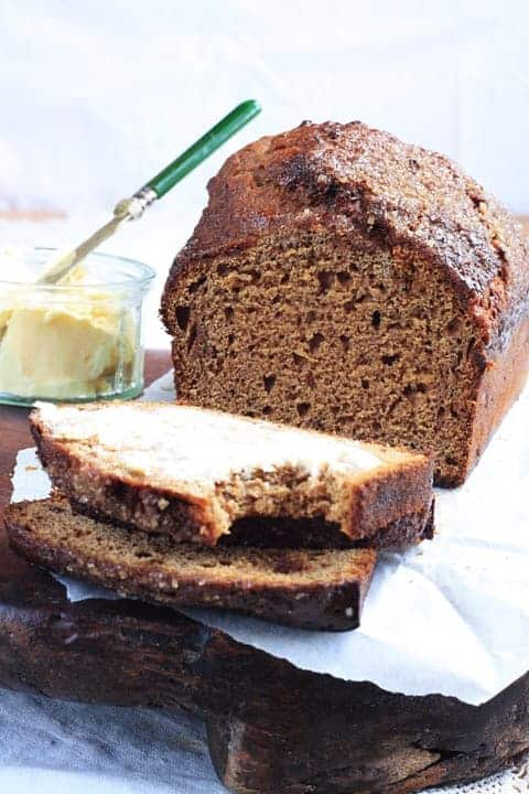 Sticky Date and Banana Malt Loaf