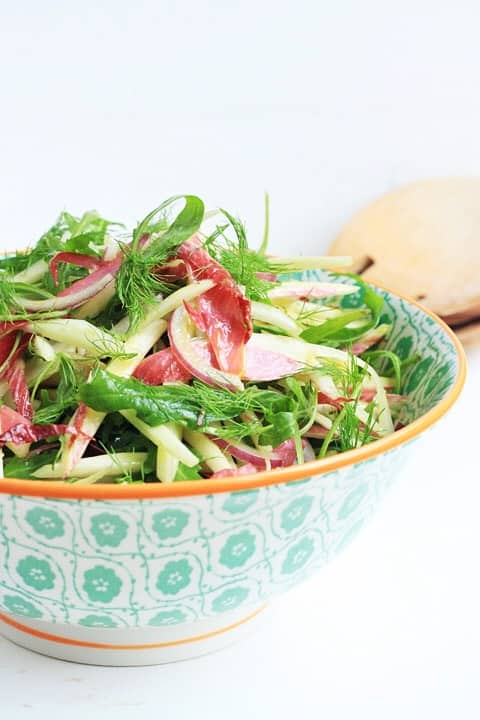 Fennel and Chicory Salad with Mango Vinaigrette