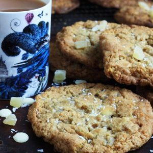 Pineapple, White Chocolate and Coconut Cookies