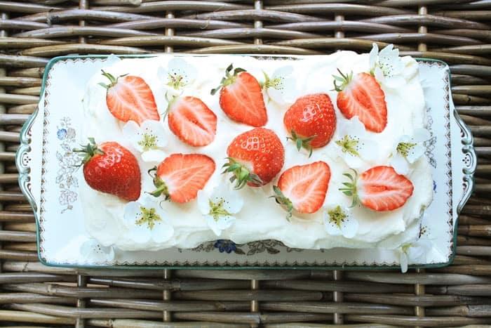 Strawberry Honey Cake