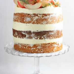White Nectarine Thyme Limoncello Cake
