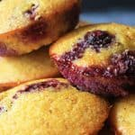 Mini Blueberry Cornbread Muffins