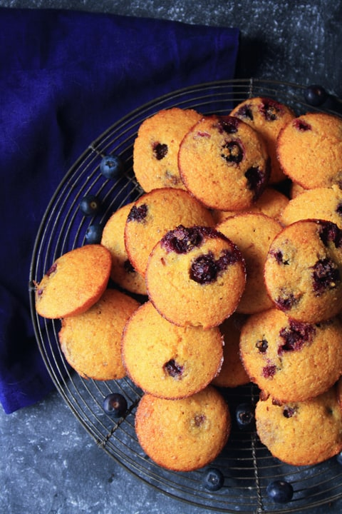 Mini Blueberry Corn Muffins