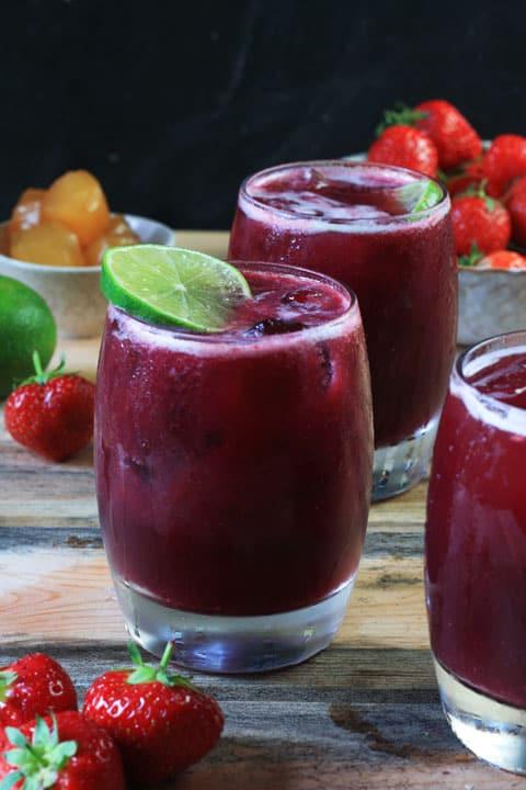 Strawberry and Stem Ginger Sangria