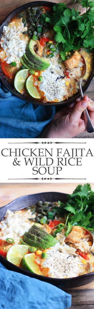 Chicken Fajita and Wild Rice Soup