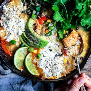 Chicken Fajita Wild Rice Soup