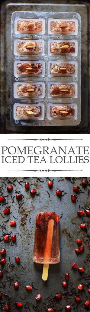 Pomegranate Iced Tea Lollies