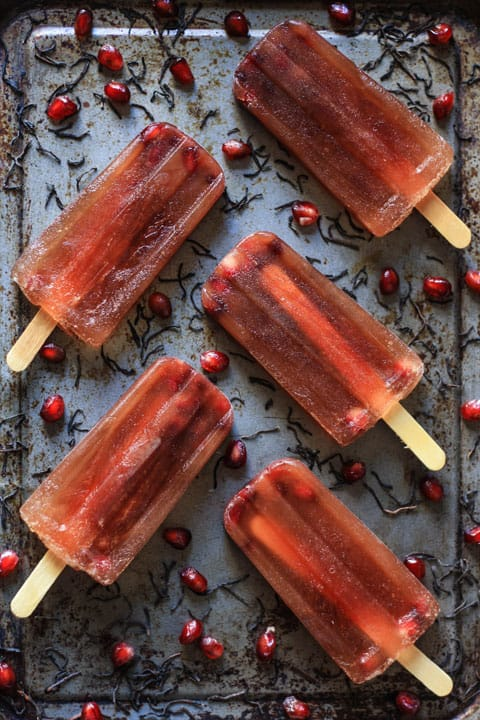 Pomegranate Iced Tea Lollies