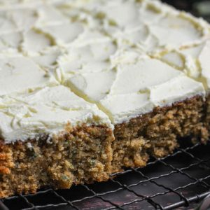 Gluten-Free Courgette Oatmeal Cake with Lemon Mascarpone Icing