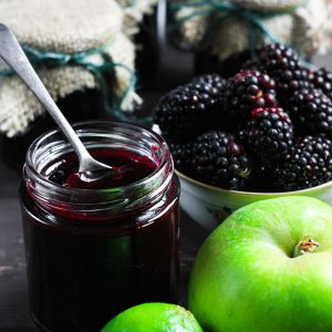 Seedless Wild Blackberry and Lime Jam
