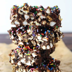 The Ultimate Popcorn Rocky Road