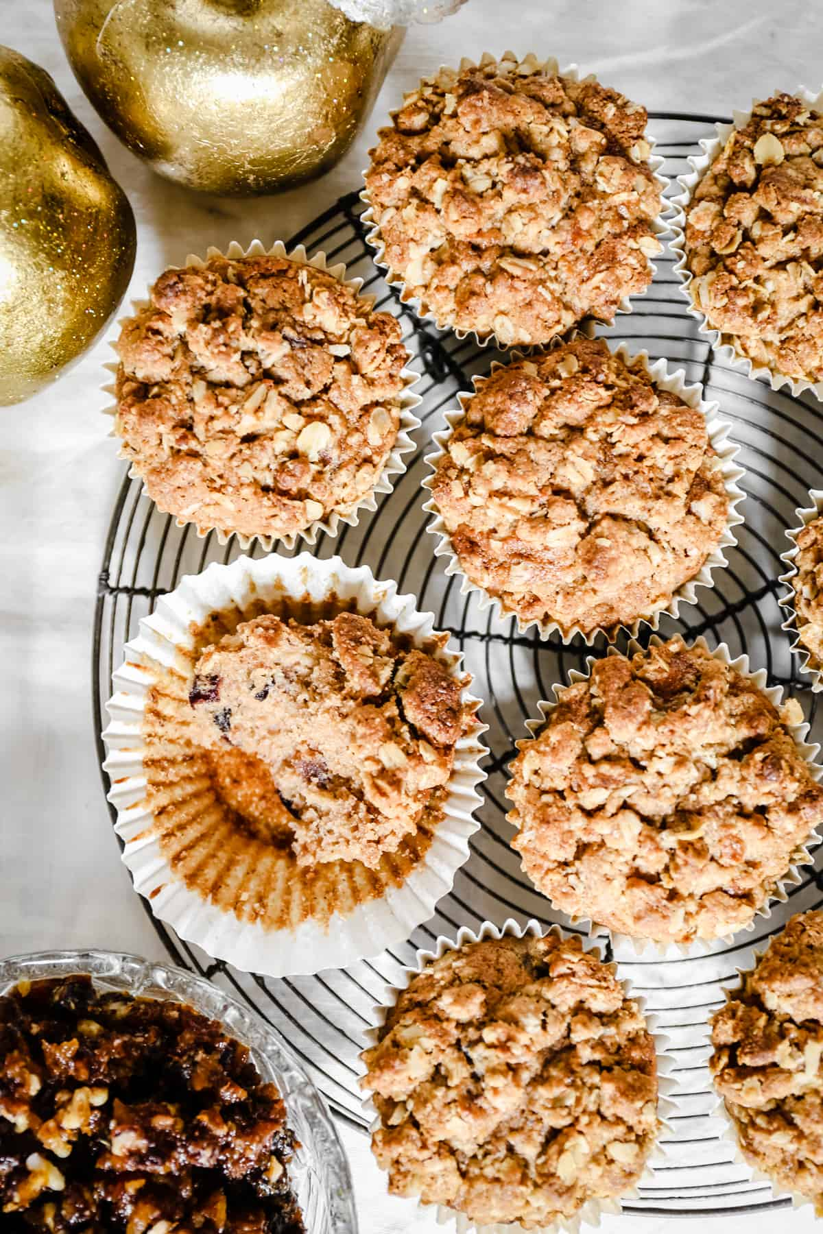 These gluten-free Christmas Morning Mince Pie Muffins are exactly what you should be treating your family to Christmas morning. They are light, fluffy, moist and full of Christmas spice and cheer.